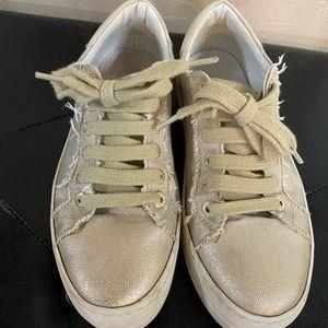 J/slides platform gold sneakers